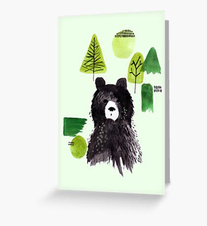 Bernard the Bear - Green Greeting Card