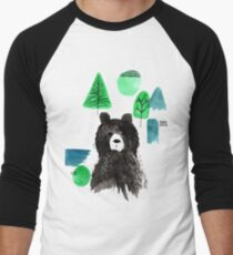 Bernard The Bear - Teal Men's Baseball ¾ T-Shirt