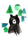 Bernard The Bear - Teal by makemerriness