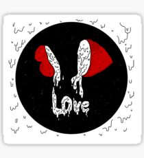 strawberry love sticker (red and white) Sticker
