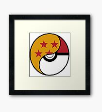 Dragon Ball x Pokemon Framed Print