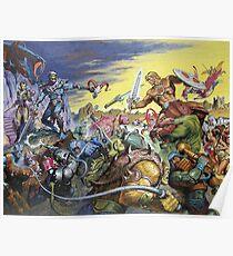 Retro Universe War Poster