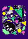 Mog Rad Cat - Purple by makemerriness