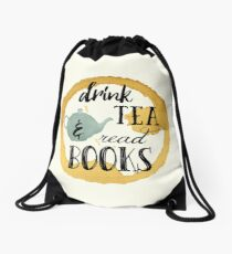 Bücher und Tee Rucksackbeutel