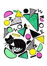 Mog Rad Cat - White by makemerriness