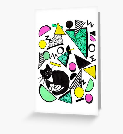 Mog Rad Cat - White Greeting Card