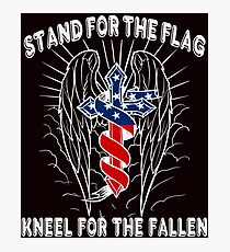 Stand For The Flag, Kneel For The Fallen Photographic Print