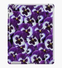 Purple And White Pansy Bouquet iPad Case/Skin