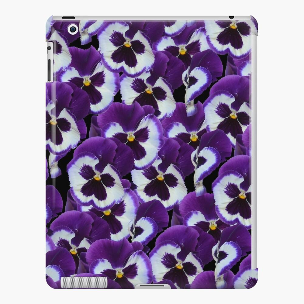 Ramo De Pensamiento Púrpura Y Blanco Funda y vinilo para iPad