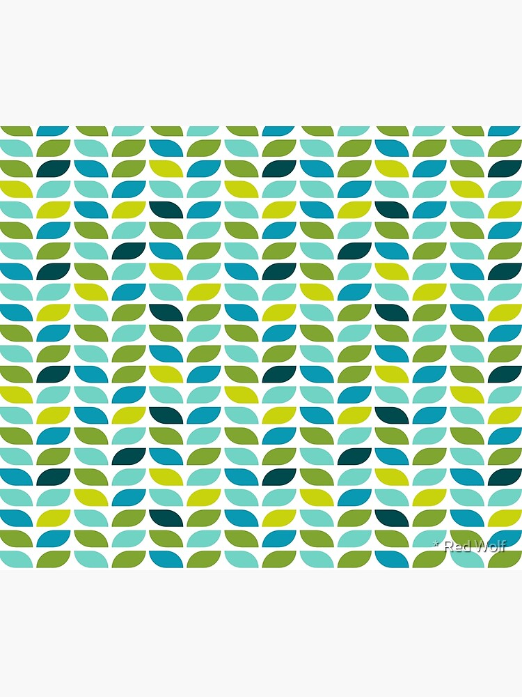 Geometric Pattern: Leaf: Spring by redwolfoz