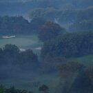 An Early Morning Fall Fog......over the golf course... by Larry Llewellyn