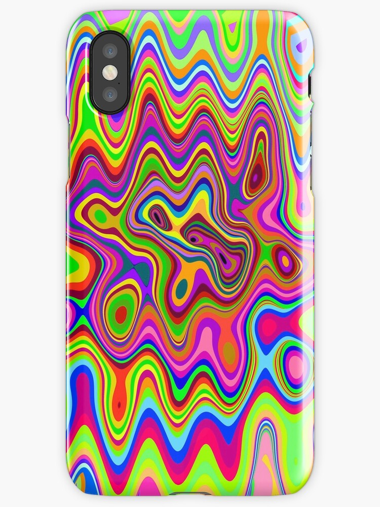 Psychedelic Glowing Colors Pattern by BluedarkArt