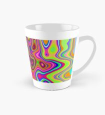 Psychedelic Glowing Colors Pattern Tall Mug