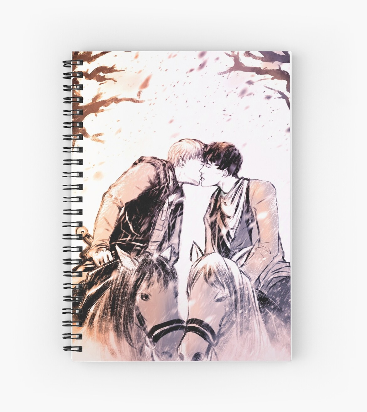 """""""Horses And Kisses"""" Spiral Notebook By Lao-paperman"""