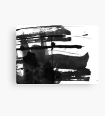 Black #abstract  Canvas Print