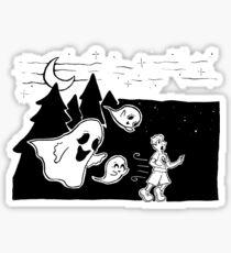 Ghost Chase - Inktober 2017  Sticker