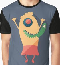 Dancing Funny Monster Graphic T-Shirt