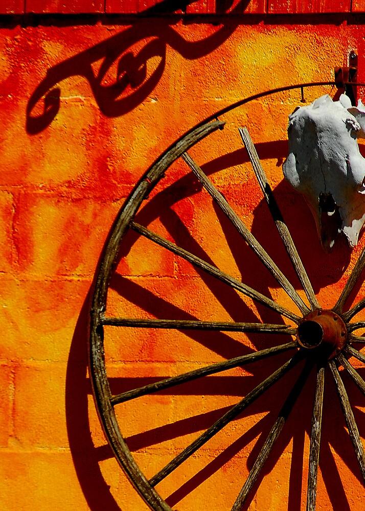 Orange Wall by Cynde143