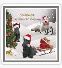 Scottish Terrier Christmas Art, Apparel, Gifts and Cards Sticker