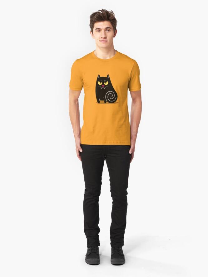 Alternate view of Spookilicious Vampire Cat! Slim Fit T-Shirt