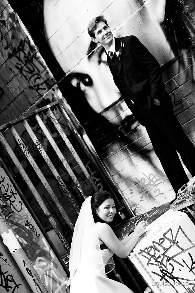 Graffitti-bw by Louisa Jones
