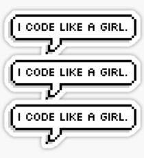 I CODE LIKE A GIRL. Sticker