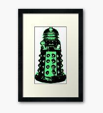 Dalek - Green Framed Print