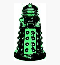 Dalek - Green Photographic Print