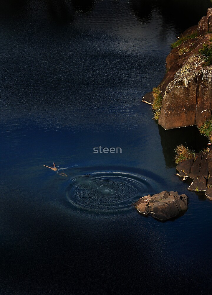 when i dive alone by steen