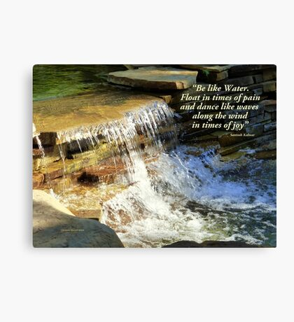 Be like Water Canvas Print
