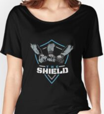 The Shield Blue Logo Women's Relaxed Fit T-Shirt