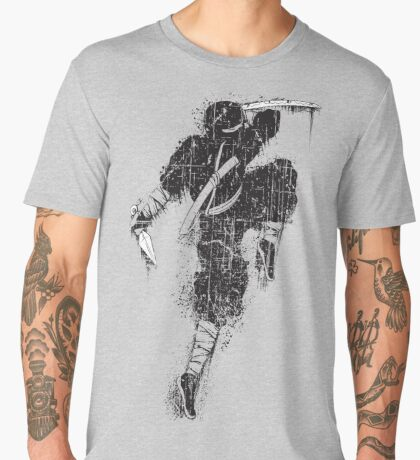 Ninja Swords Shinobi Japanese Print Men's Premium T-Shirt