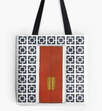 Palm Springs Orange Door and Breeze Blocks Tote Bag