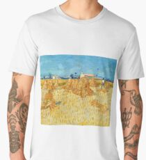 "Van Gogh ""Corn Harvest in Provence"", 1888 Men's Premium T-Shirt"