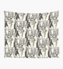 fashion avenue at morning rush hour Wall Tapestry
