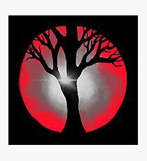 Circle in Red Digital Design Photographic Print