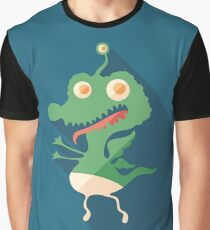 Cheerful Monster Graphic T-Shirt