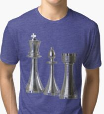 Metal chessmen Tri-blend T-Shirt