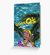 Quavo's Cereal Beach Blue Greeting Card