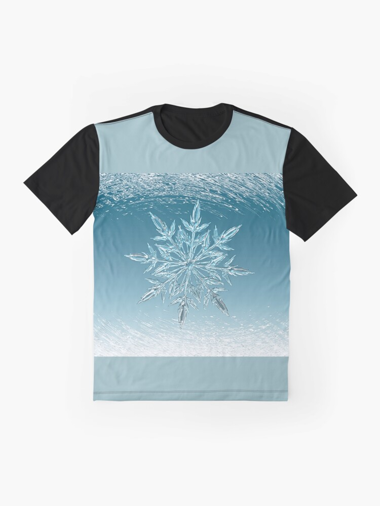 Alternate view of icy blue cold beauty Graphic T-Shirt