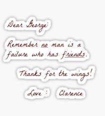 Dear George Sticker