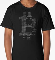 Bitcoin Cryptocurrency cryptocurrency logo gray Long T-Shirt
