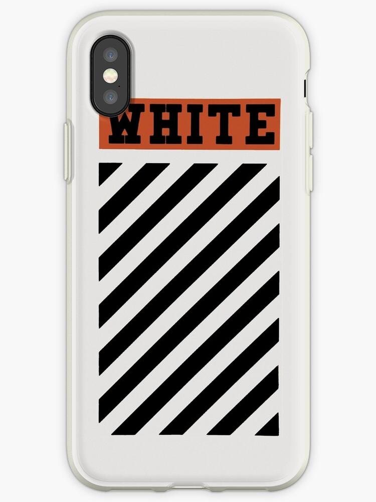 50c0521c7 Off-White Style Virgil Abloh Diagonal Phone Case Off White Orange by  nChuggeT