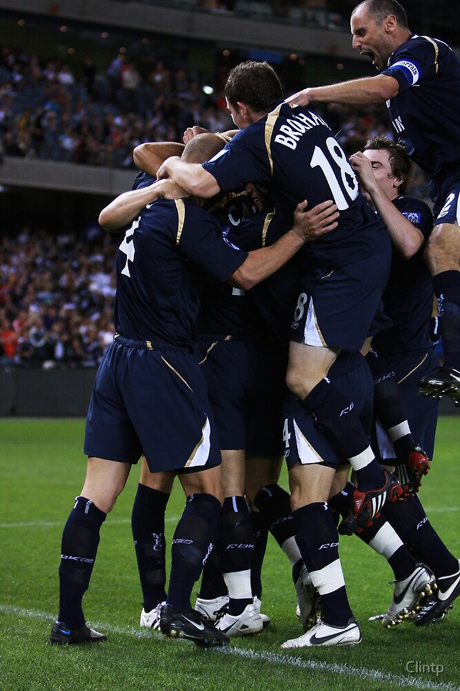 Melbourne Victory Celebrate by Clinton Plowman