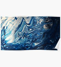 Abstract tidal wave Poster