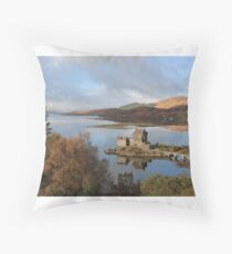 Eilean Donan Castle in Autumn Floor Pillow