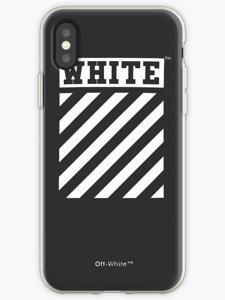 Off-White Style Virgil Abloh Phone Case Off White Grey