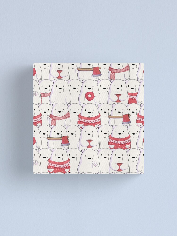 Alternate view of Ice Bear's sweater weather Canvas Print