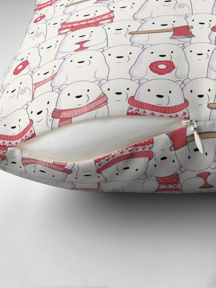 Alternate view of Ice Bear's sweater weather Floor Pillow
