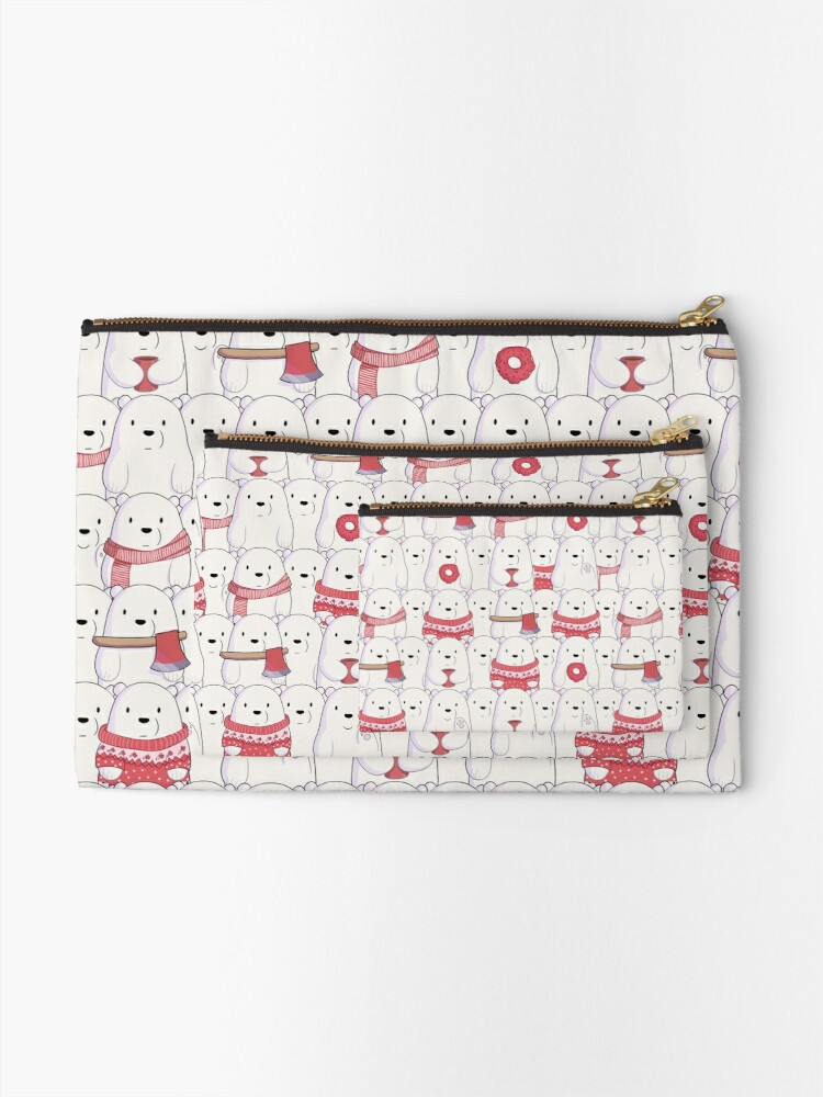 Alternate view of Ice Bear's sweater weather Zipper Pouch